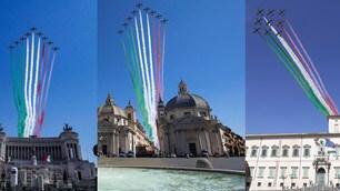 Roma, lo spettacolo delle Frecce tricolori