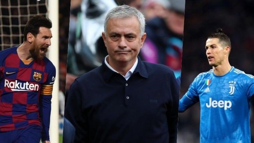 """Mourinho: """"Messi e Cristiano Ronaldo? Il più forte è un altro"""""""