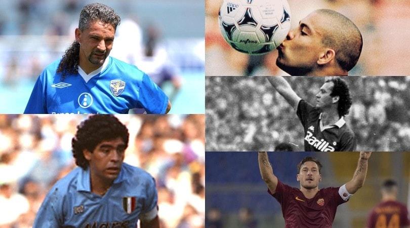 Da Totti e Falcao a Baggio, Ronaldo e Maradona: quante stelle senza Champions!