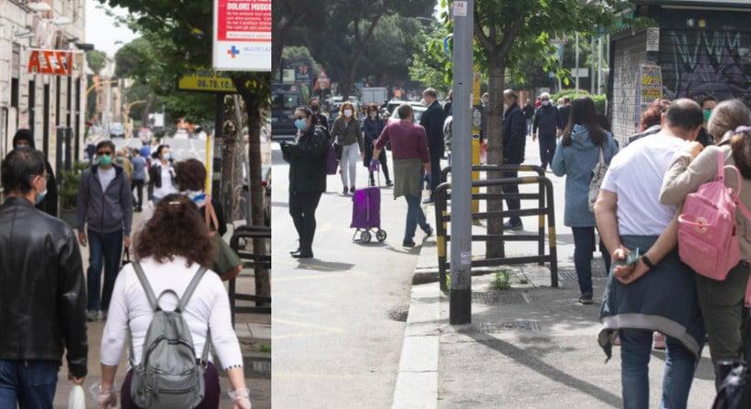 Roma, strade piene a due giorni dalla fine del lockdown