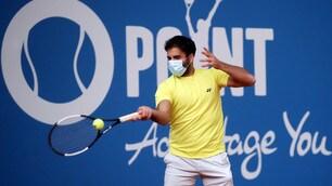 In Germania il primo tennista con la mascherina