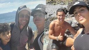 Ronaldo e Georgina, trekking sulle rocce vulcaniche di Madeira