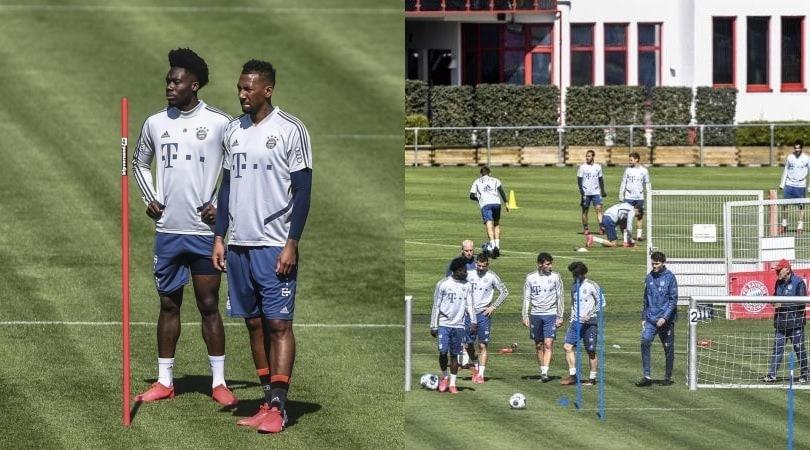 Il Bayern si allena: calciatori uno vicino all'altro, senza paura