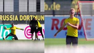 Il Borussia Dortmund riprende gli allenamenti: c'è anche Haaland