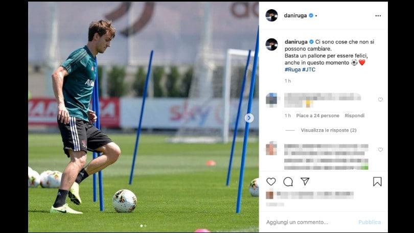 "Juve, Rugani: ""Basta un pallone per essere felici"""