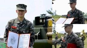 Corea del Sud, ecco il diploma dell'esercito per Son Heung-min