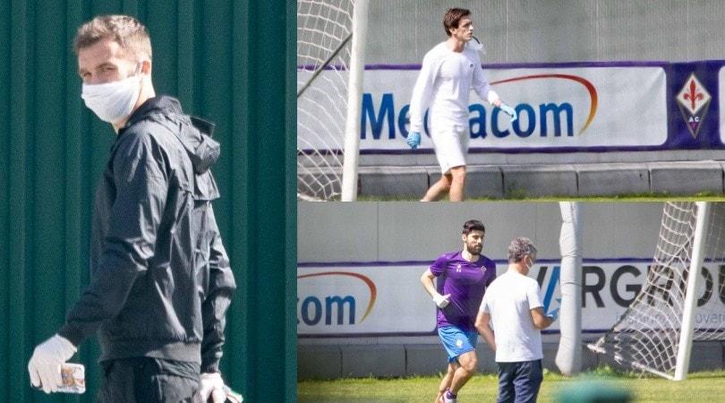 Mascherine e distanziamento sociale, la Fiorentina torna ad allenarsi