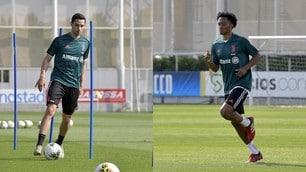 Juve, De Sciglio e Cuadrado corrono verso il ritorno in campo