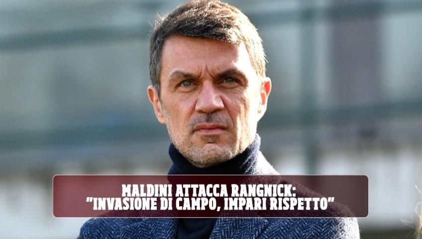 """Milan, Maldini attacca Rangnick: """"Invasione di campo, impari rispetto"""""""