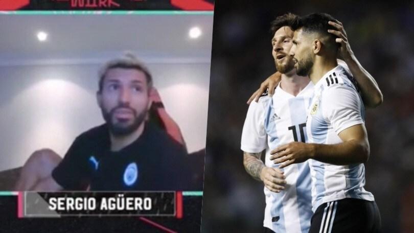 Aguero gioca a Fifa 2020, Messi irrompe in diretta. La scenetta è esilarante