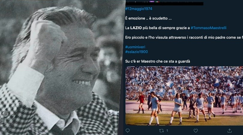 Lazio, 46 anni fa il primo scudetto: il ricordo sui social