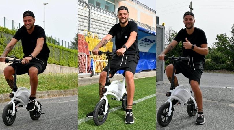 Lazio, a Formello duro lavoro. E Milinkovic arriva in monopattino!