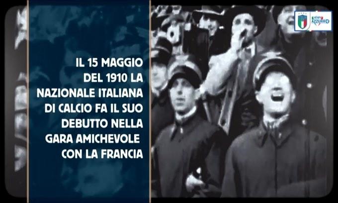 Italia, 110 anni fa la prima partita