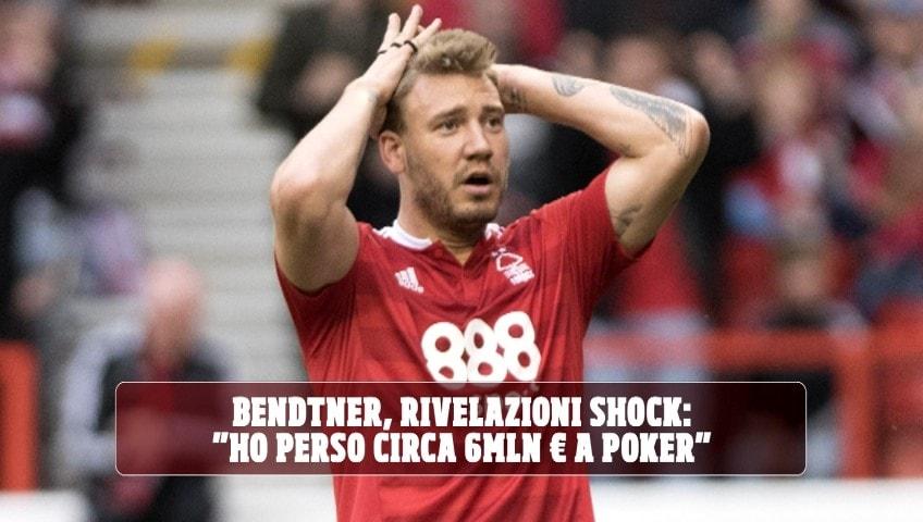 """Bendtner, rivelazioni choc: """"Ho perso circa sei milioni di euro giocando a poker"""""""