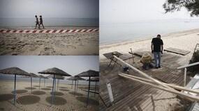Coronavirus, ultimi lavori in Grecia prima della riapertura delle spiagge