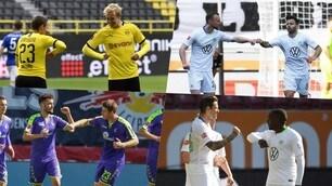 La Bundesliga post Coronavirus: esultanza ai gol con i gomiti