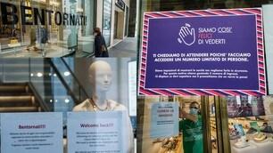 """Coronavirus, a Torino negozi pronti per la riapertura: """"Bentornati"""""""
