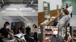 """Coronavirus, la """"strana"""" prima volta di barbieri e parrucchieri"""