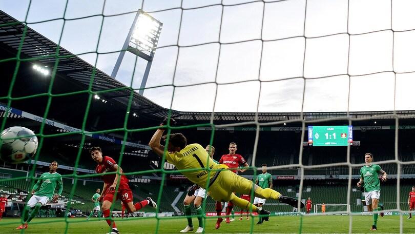 Bundesliga, il Bayer Leverkusen cala il poker sul campo del Werder