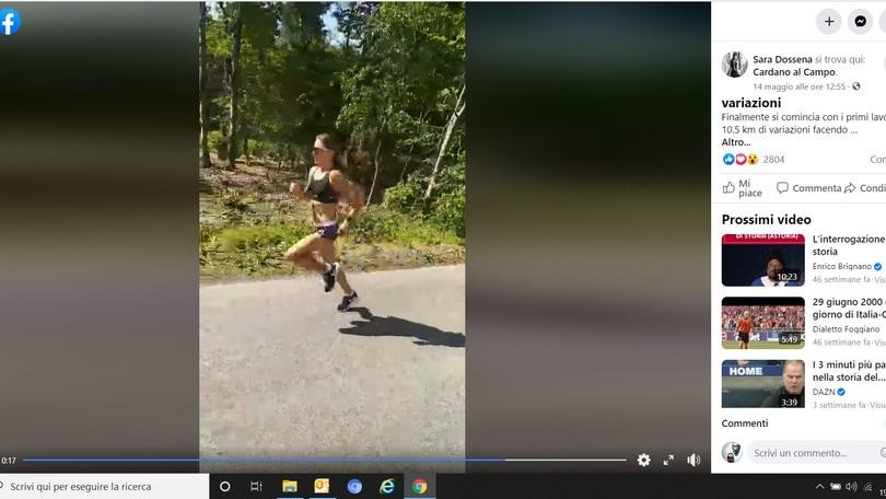 VIDEO - Sara Dossena a 20km/h in allenamento. Tokyo non è così lontana