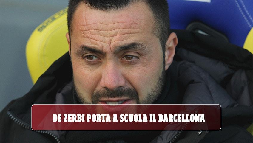 De Zerbi porta a scuola il Barcellona: a lezione dal tecnico!