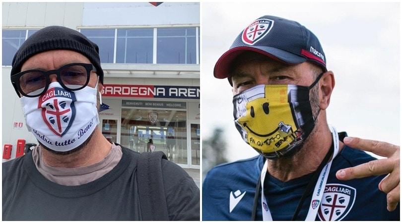 Cagliari, Zenga ogni giorno con una mascherina diversa