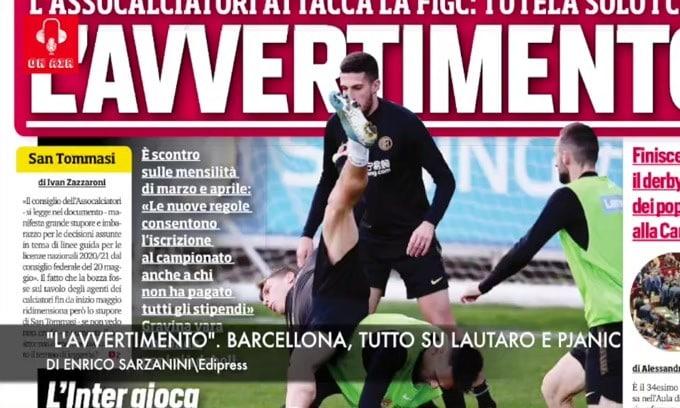 """""""L'avvertimento"""". Barcellona, tutto su Lautaro e Pjanic"""