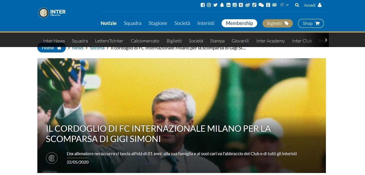 Lutto nel calcio: è morto Gigi Simoni