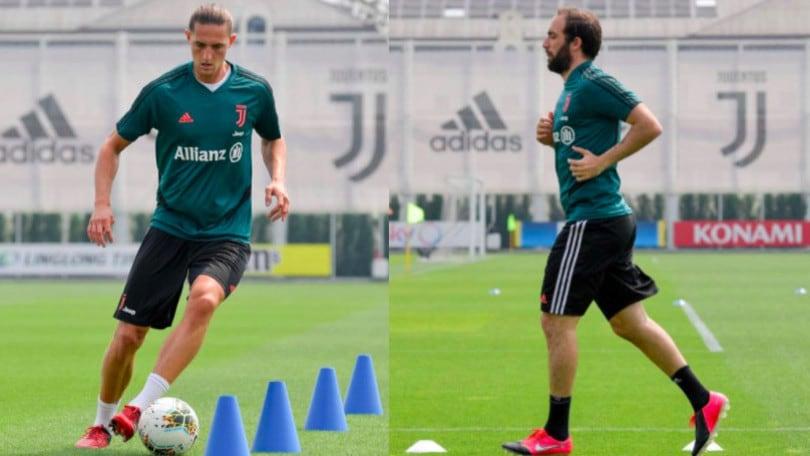 Juve, anche Rabiot e Higuain sono tornati ad allenarsi