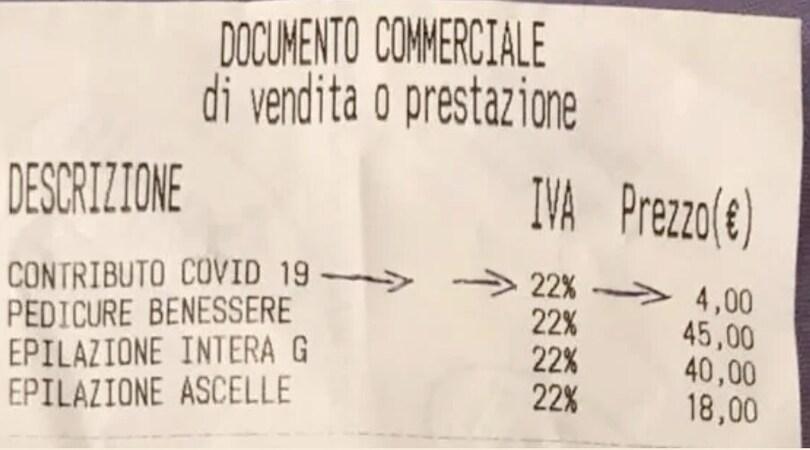 """Spunta la """"tassa Covid"""": da 2 a 4 euro negli scontrini"""