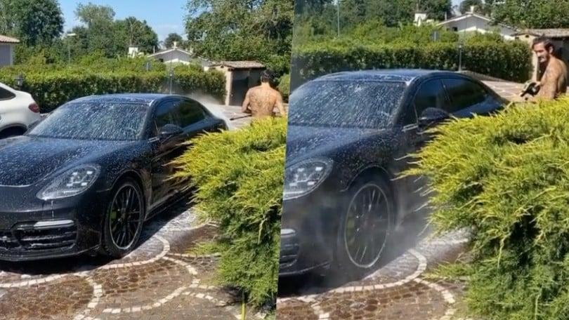Lazio, l'hobby di Luis Alberto: fa il 'car washer' a domicilio