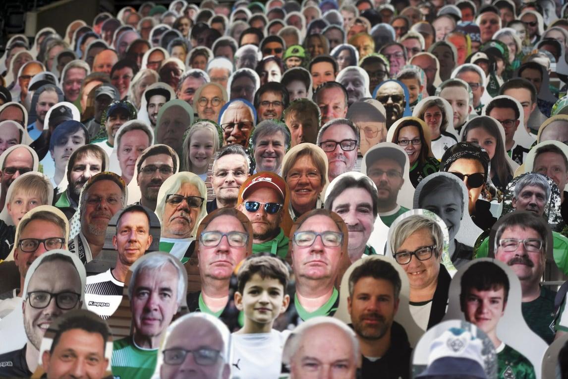 Il Borussia Mönchengladbach conta sui tifosi…di cartone