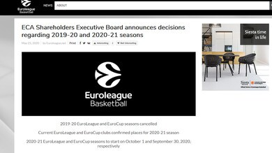 Eurolega ed Eurocup, stagione ufficialmente finita