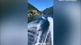 Wanda Nara e Icardi sulla moto d'acqua nel lago di Como!