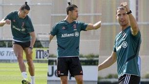 """Ronaldo, che show in allenamento: il """"siuu"""" accende la Juve"""