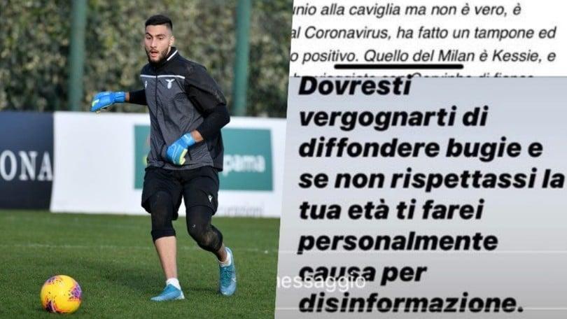 """Lazio, deklarata tronditëse për Strakosha: """"Ka Coronavirus"""".  Dhe vëllai mohon"""