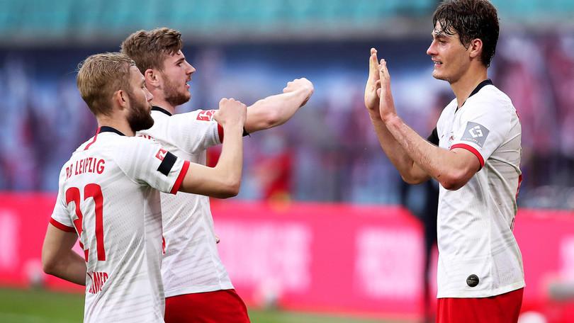 Bundesliga, Lipsia-Hertha Berlino 2-2: Piatek risponde a Schick