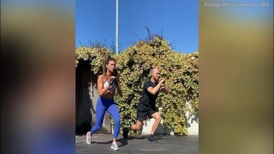 Fitness all'aperto per Carolina Marcialis