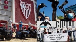 Coronavirus, la Liga banna i fotografi dagli stadi: scatta la protesta