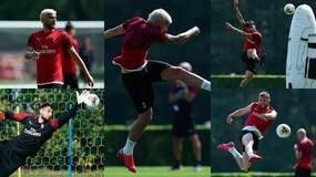 Il Milan senza Ibrahimovic prova i tiri: il biondo Theo Hernandez protagonista