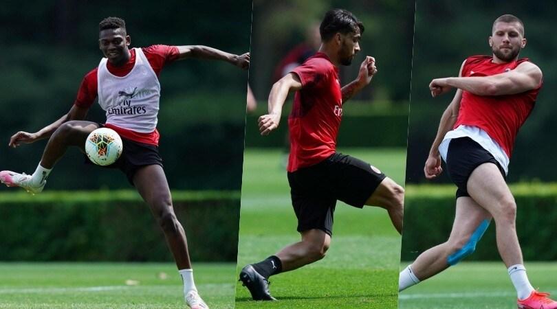 Milan, prove d'attacco: Leao si muove al posto di Ibrahimovic