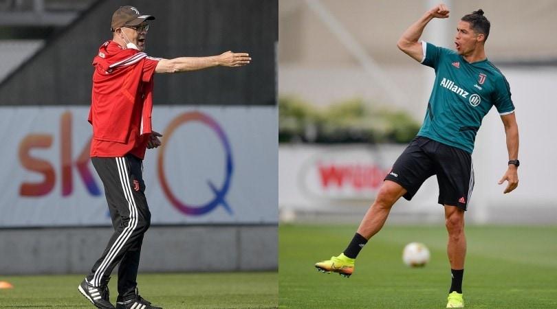"""Juve, Sarri dirige e Ronaldo fa """"siuuu"""""""