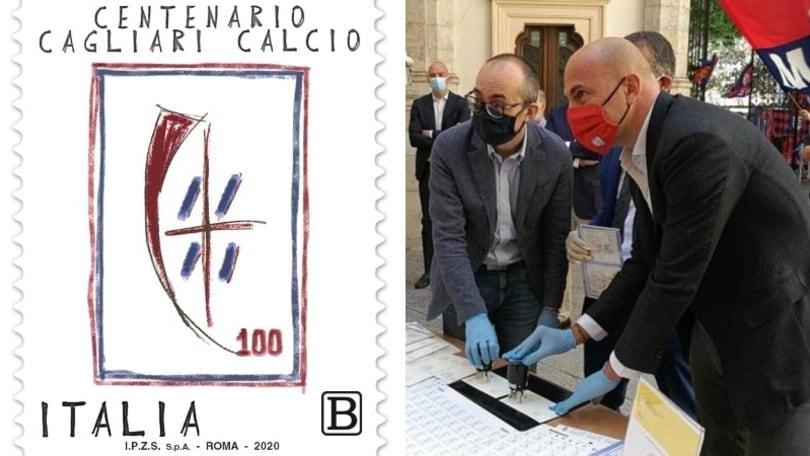 Cagliari, un francobollo per i 100 anni