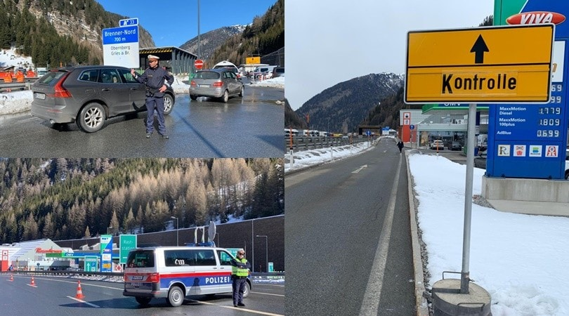 Coronavirus, al Brennero controlli a tappeto della polizia austriaca