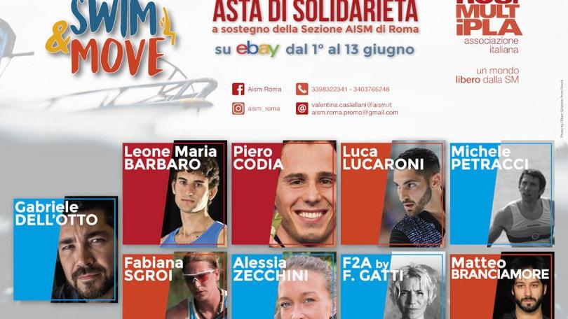 Swim&Move, l'asta solidale a sostegno di AISM Roma Dall'1 al 13 giugno