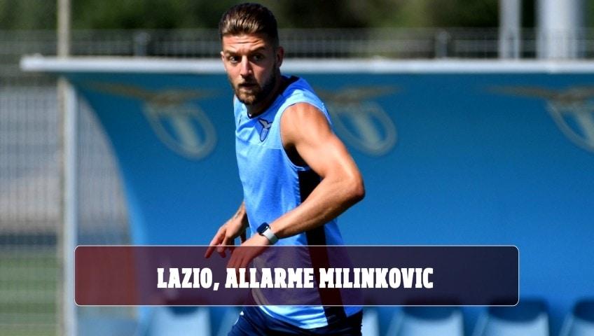 Lazio, allarme Milinkovic: problema al ginocchio, attesa per gli esami