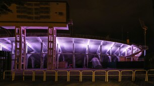 Fiorentina, stadio illuminato di viola per Commisso