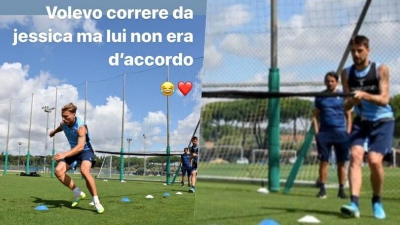 """Lazio, Immobile scherza: """"Corro da Jessica, ma Acerbi non vuole"""""""