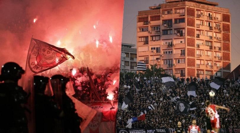 Partizan-Stella Rossa, derby di fuoco a Belgrado: scene incredibili