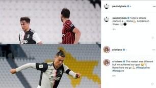 La Juve conquista la finale di Coppa Italia. Da Dybala a Ronaldo: festa sui social